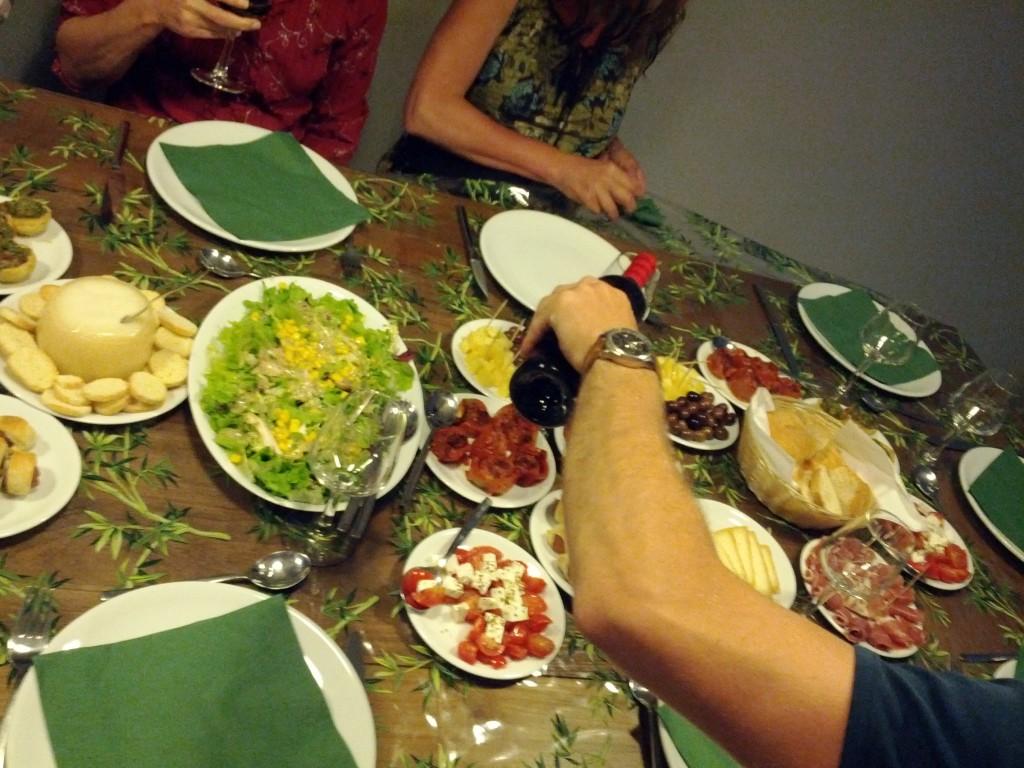 Tapas zum Abendessen im Hostel