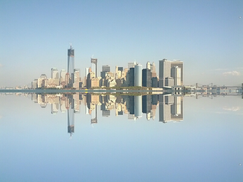 Skyline (kuenstlich gespiegelt)