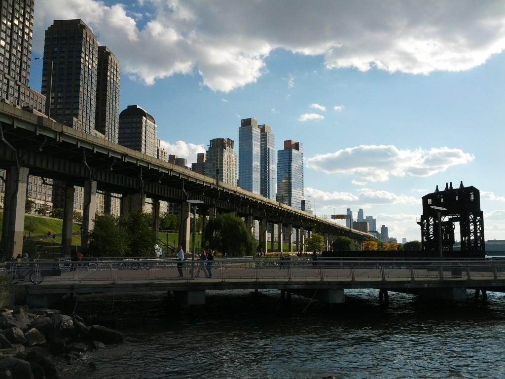 Blick auf die Westseite von Manhattan
