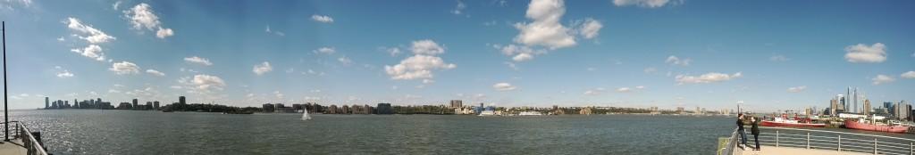 Blick vom Westen Manhattans