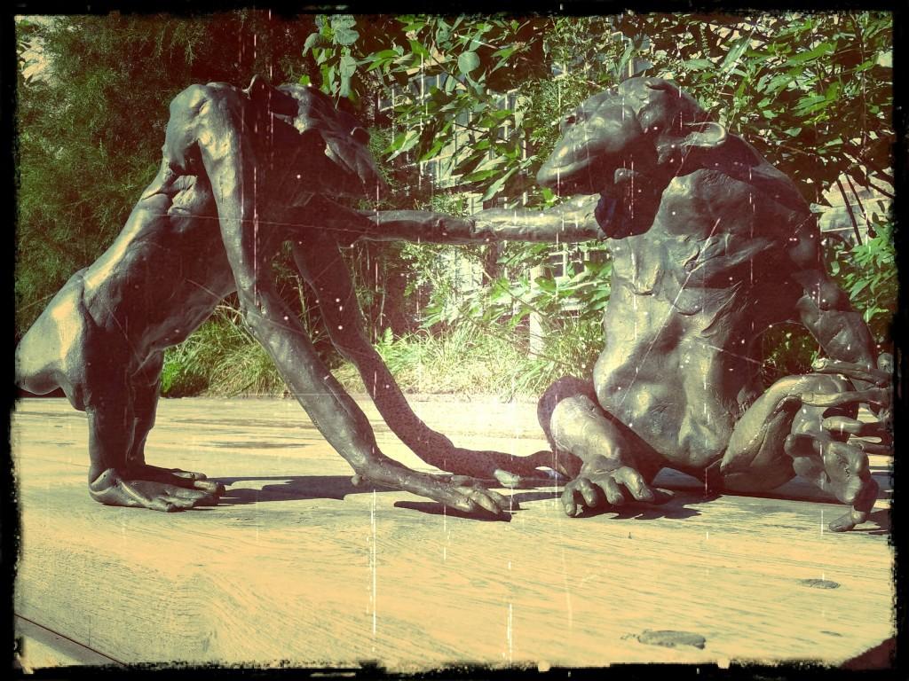 Skulptur im Highline Park
